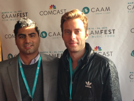 Amir Noorani (left) and Mike Gut (right) at the 2013 CAAM Film Festival