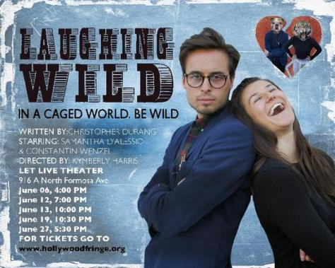 "Constantin Wenzel (left) and Samantha D'Alessio (right) on the flyer for ""Laughing Wild"""