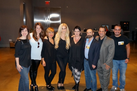 (Pictured from left to right at MILK Studios : Sebastien Professional Prestige Brand Manager Becky Godlove (Sebastian/Wella/Nioxin Brands), Sebastian Professional Brand Manager Bailey Dyer, Education Director for Sebastian Professional Christina McCarver, singer-songwriter Kesha, P&G Salon Professional Education Director Carole Protat, Nuell Entertainment VP Global Partnerships Fred Sherman, Nuell Entertainment President Gary Nuell, Sylvio Fagundes.