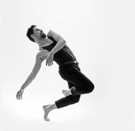 Dancer Justin Lopes, Photo by Greg Tjepkema