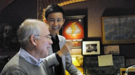 CCTV 6 special Program about Making the STAR WARS SERIES-Li Zhen with Oscar winner Ben Burtt @ Skywalker Sound 000