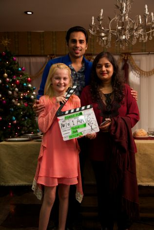 With Director Tushar Tyagi and Actor Lainee Rhodes on A Broken Egg Production Still