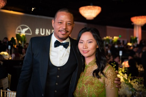 Livi Zheng and Terrence Howard at the Unforgettable Gala